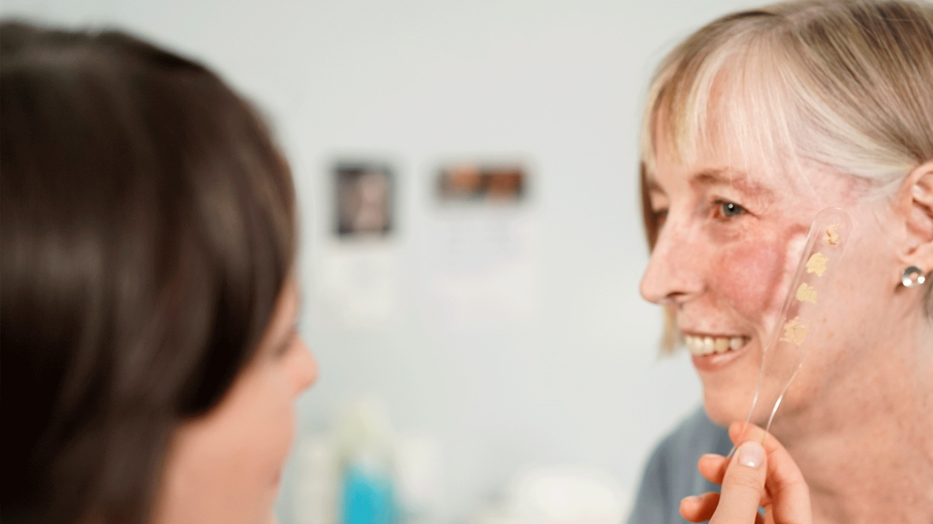 A woman in a Skin Camouflage Service appointment
