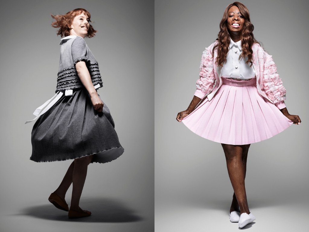 Two women posing for the Portrait Positive photo shoot by Rankin (Credit: Rankin)