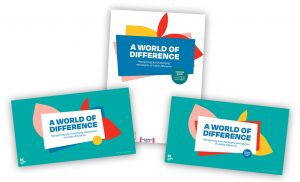 A collage of covers of our A World of Difference primary school resources