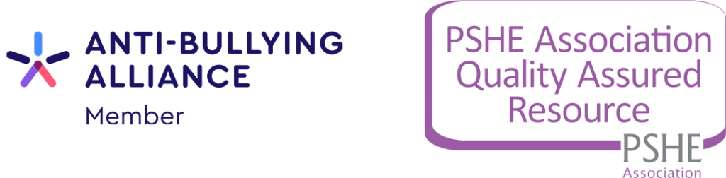 Logos of the Anti-Bullying Alliance and PSHE Association